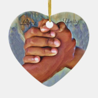 Love,Unity,Peace_ Christmas Ornament
