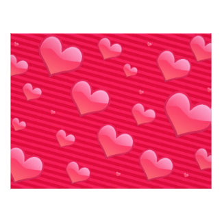 Love Valentine Hearts Pink Personalized Flyer