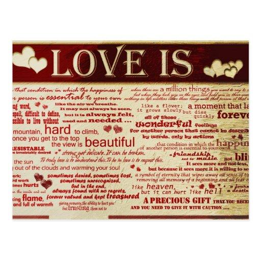 Love Valentine Postcard