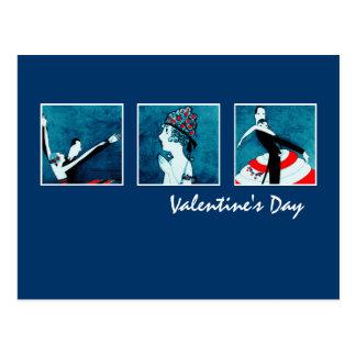 Love. Valentine's Day Art Deco Postcards