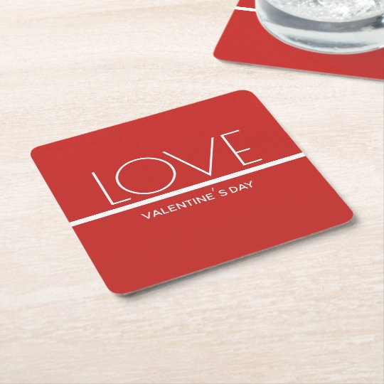 Love Valentines Day   Paper Coasters