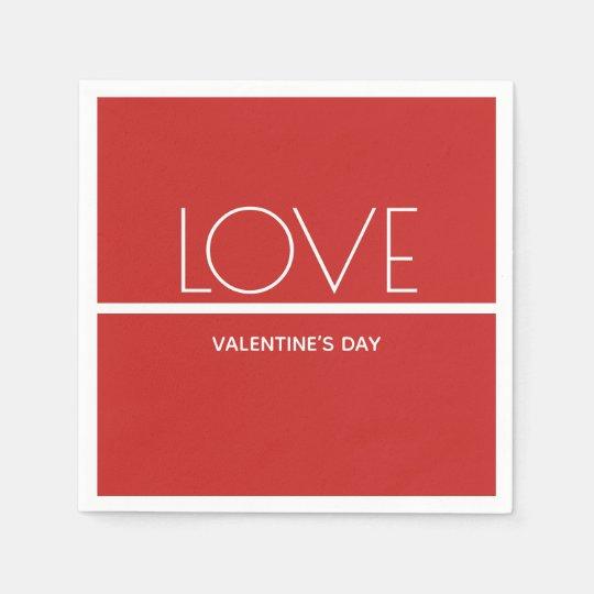 Love Valentines Day | Paper Napkin