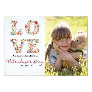LOVE Valentine's Day Photo Card 13 Cm X 18 Cm Invitation Card