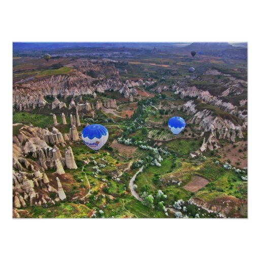 Love Valley Canyon in Cappadocia Poster