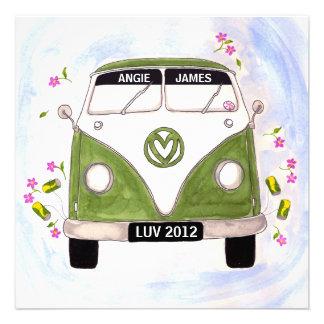Love Van personalised wedding invitation