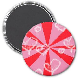 love vector 7.5 cm round magnet