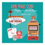 Love Vegas Style Teal Bridal Shower Invitation
