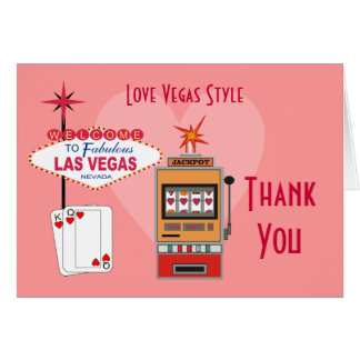 Love Vegas Style Thank You Cards