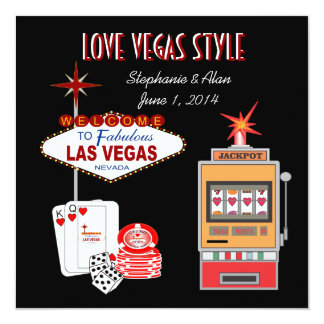 Love Vegas Style Wedding Invitation with RSVP