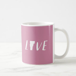 Love Vermont - White on Pink State Mug