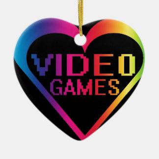 love video games ceramic heart decoration