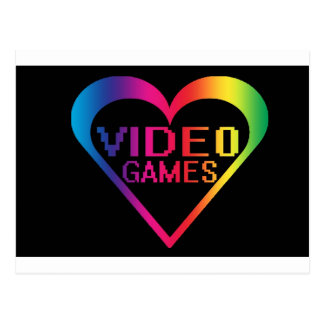 love video games post card