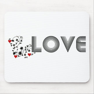 LOVE Vine with Hearts Mousepad