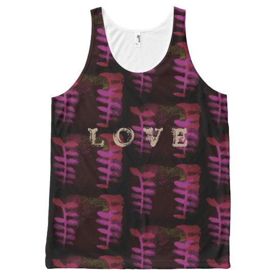 love vintage All-Over print tank top