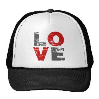 Love Vintage Distressed Valentines Day Hat