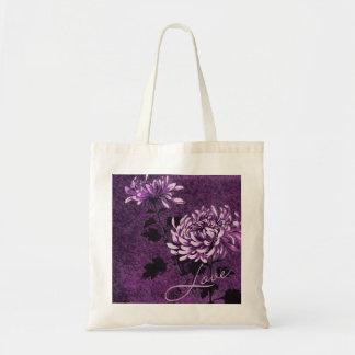 Love: Vintage Floral Budget Tote Bag