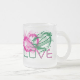 Love Virtue Frosted Glass Mug