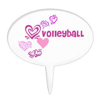Love Volleyball Cake Picks
