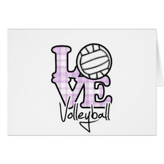 Love Volleyball Greeting Card