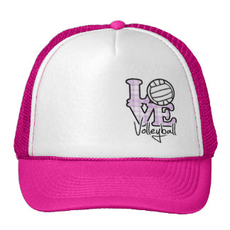 Love Volleyball Hats