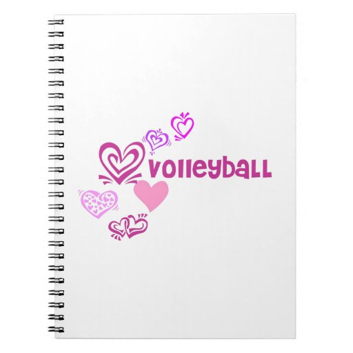 Love Volleyball Spiral Note Books