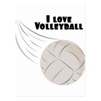 Love Volleyball Postcard