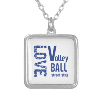 Love Volleyball Street Style Silver Plated Necklace