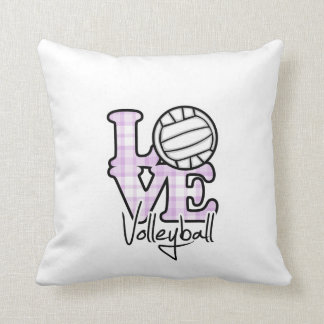 Love Volleyball Throw Cushions