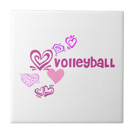 Love Volleyball Ceramic Tiles
