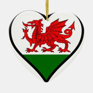 Love Wales Ceramic Heart Decoration