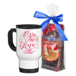 """Love - Watercolor """"All You Need Is Love"""" Stainless Steel Travel Mug"""