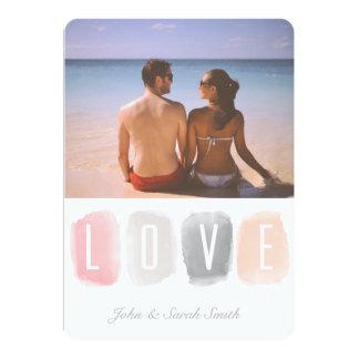 Love Watercolor Palette | Photo Valentine Card