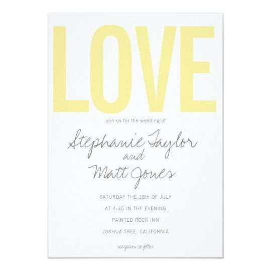 LOVE Wedding Invitation, wedding collection Card