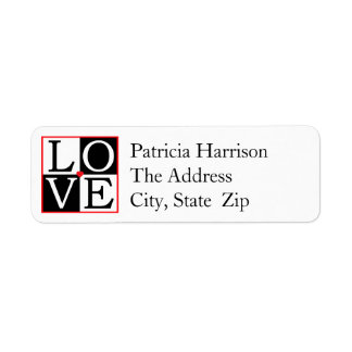 LOVE Wedding Return Address