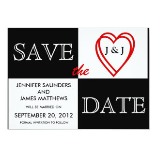 LOVE Wedding Save the Date Announcement Front View