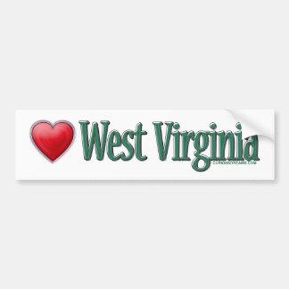 Love West Virginia Bumper Sticker