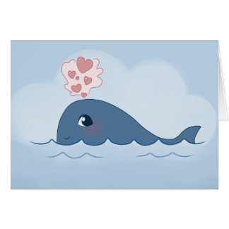 Love whale greeting card