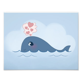 Love whale photograph