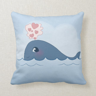 Love whale throw cushions