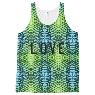 Love wiith pattern All-Over print tank top