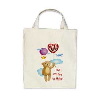 LOVE WILL TAKE YOU HIGHER TOTE BAG