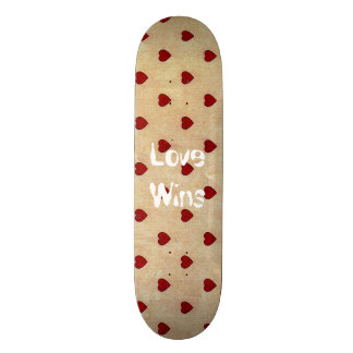 Love Wins Celebration Polka Hearts Skateboards