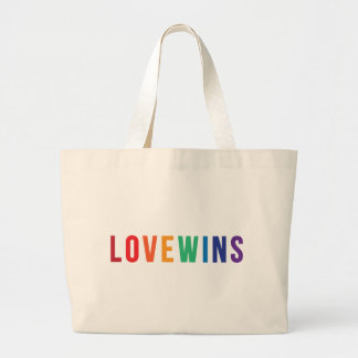 Love Wins - Equal Rights Jumbo Tote Bag