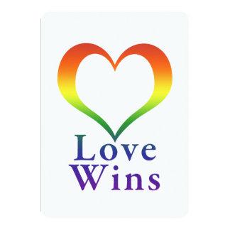 Love Wins Rainbow Heart 13 Cm X 18 Cm Invitation Card