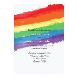 Love Wins Rainbow Invitation