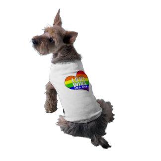 Love Wins the Day Sleeveless Dog Shirt