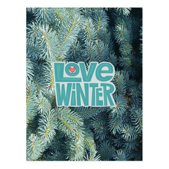 Love Winter season's greetings postcard/invite Postcard