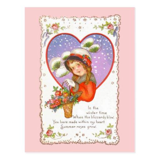 Love Winter Time Postcard