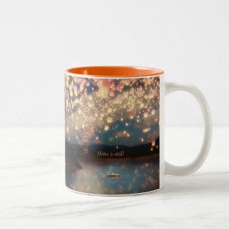 Love Wish Lanterns Coffee Mug