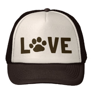 LOVE with Dog Paw Print Cap